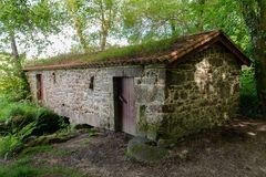 Old stone house in the forest. Image of old stone house in the forest Stock Photo