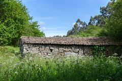 Old stone house in the forest. Image of old stone house in the forest Royalty Free Stock Images