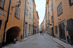 Image of Old Town street in Stockholm Stock Photos