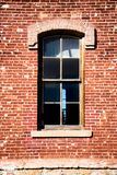 Old western brick window in Montana Royalty Free Stock Photos