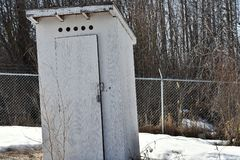 Old Wooden Out Door Toilet. An image of an old wooden out door toilet in winter Stock Photography
