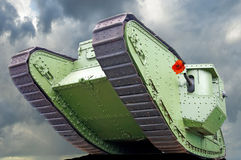 Image of one old tank close-up Stock Images