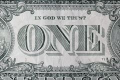 Image of one USdollar Royalty Free Stock Photography