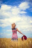 Image of one young pretty lady having fun standing Royalty Free Stock Photos