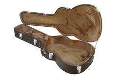The image of open guitar case Royalty Free Stock Photography