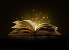 Image of opened magic Stock Photography