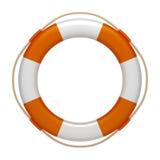 Life saver. An image of an orange white life saver Royalty Free Stock Photography