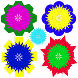 Image, ornaments, intricacy, outline, spirograph, symmetry, pattern. Stock Images