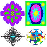 Image, ornaments, intricacy, outline, spirograph, symmetry, pattern. Stock Photography