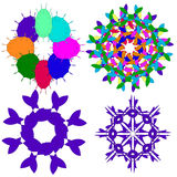 Image, ornaments, intricacy, outline, spirograph, symmetry, pattern. Royalty Free Stock Image