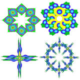 Image, ornaments, intricacy, outline, spirograph, symmetry, pattern. Royalty Free Stock Photography