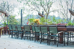 Image of out door Terrace lounge restaurant Stock Image