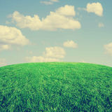 Image from outdoor background series (sky and grass) toned with a retro vintage instagram filter effect Stock Photos