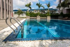 An Outdoor Swimming Pool royalty free stock photography