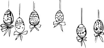 Image painted Easter eggs of different patterns Royalty Free Stock Image