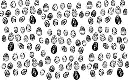 Image painted Easter eggs of different patterns Stock Photos