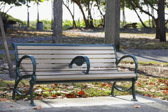 Image of a park bench Royalty Free Stock Photos