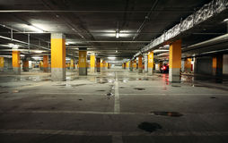 Image of parking garage underground interior Stock Photos