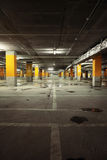 Image of parking garage underground interior Royalty Free Stock Image
