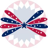 Image of a patriotic star banner background Royalty Free Stock Photos