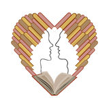 The image of the people's love of books Stock Images