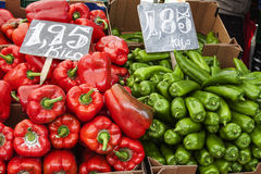 Pepper at street market. Image of pepper at street market Royalty Free Stock Photo