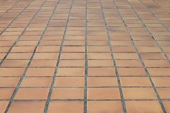 Perspective of street tile Stock Photography