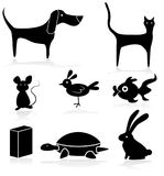 Pet Store Animals Icon Set Royalty Free Stock Image