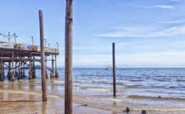 Hua Hin Pier. Image of the pier in Hua Hin, Thailand royalty free stock photos