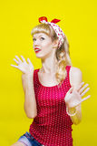 Image pin up girl Stock Images