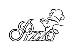 Image of pizza label Royalty Free Stock Photography