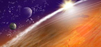 image of planet earth in space. Stock Photography