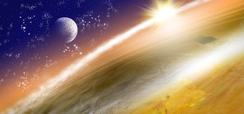 image of planet earth in space. Royalty Free Stock Images