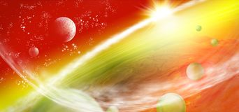 image of planet earth in space. Royalty Free Stock Photography