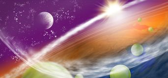 image of planet earth in space. Royalty Free Stock Photo