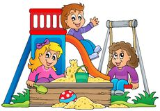 Image with playground theme 1 Stock Images