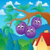 Image with plum theme 2 Royalty Free Stock Photo