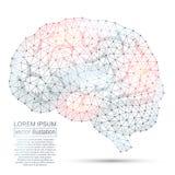 Image polygonale d'abrégé sur ADN Bas poly wireframe Images libres de droits