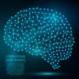 Image polygonale d'abrégé sur ADN Bas poly wireframe Image libre de droits
