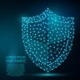 Image polygonale d'abrégé sur bouclier de sécurité bas poly Photo libre de droits