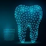 Image polygonale d'abrégé sur dent Bas poly wireframe Photo stock