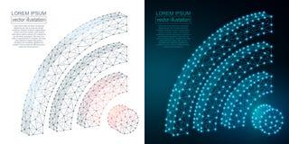 Image polygonale d'icône de Wi-Fi Images stock