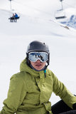 Skier taking a break Stock Images