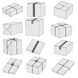 Image of post packages Stock Images