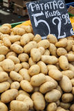 Background of potatoes. Image of Potatoes at street market Stock Image