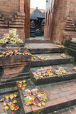 Image of prayer offerings. At Tirtha Empul Temple, Bali stock images
