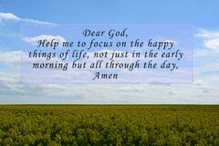 Image with prayer quotes on blurred background. Prayer concept