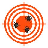 Accurate hits in a target vector illustration. On the image presented accurate hits in a target vector illustration Stock Photos