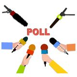Badge opinion poll  illustration. Stock Images