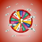 Fate wheel, 3D roulette  illustration. Stock Photos